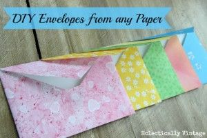 Learn how to make DIY envelopes from any paper - no special template needed. Perfect for weddings, invitations or gifts.