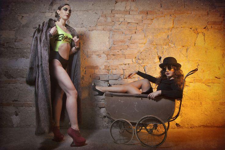 Klaudia Nagy (Hungarian Chamoin sportmodel) and Gabi Knoll (singer)
