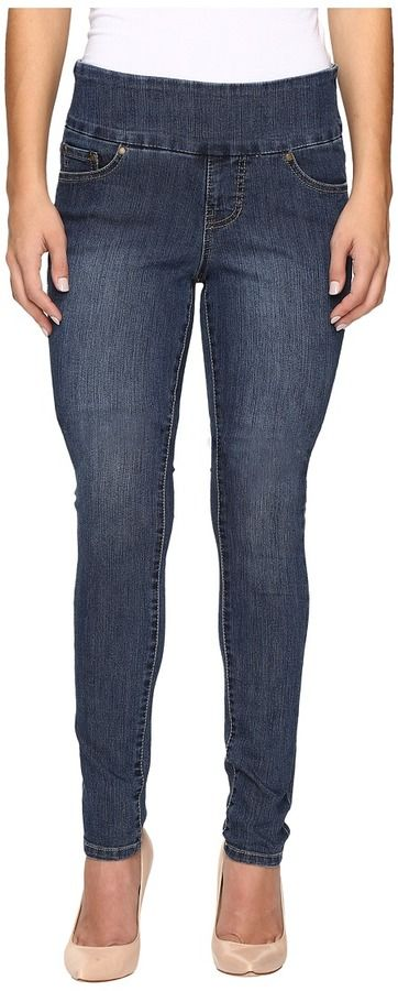 Jag Jeans Petite - Petite Nora Pull-On Skinny Comfort Denim in Anchor Blue Women's Jeans