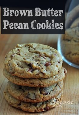 Perfect crispy edges and satisfying chewy middles! Brown Butter Pecan Cookies - The Creekside Cook