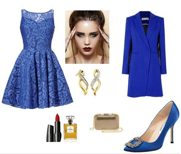 Chabrowa sukienka z odkrytymi plecami sugarfree studniówka emma niebieska