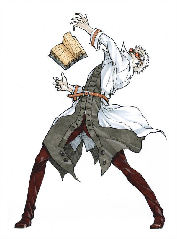 Mad Scientist Full Body By Mizaeltengu Anime Poses Character