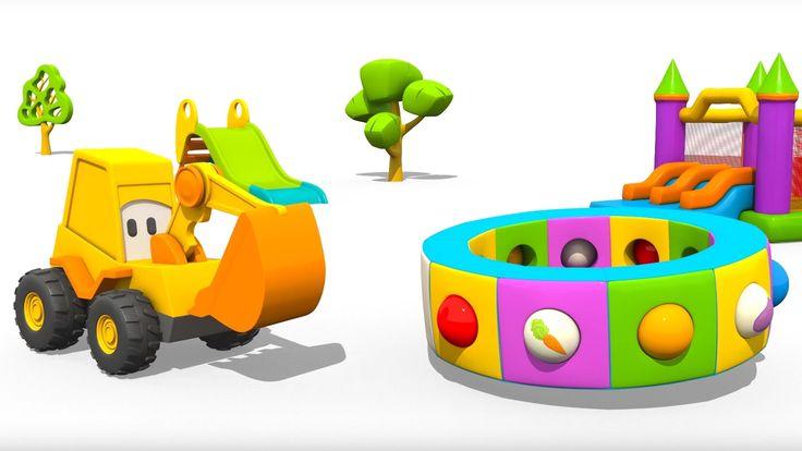 Cartoni Animati per Bambini - L'escavatore Max e la fantastica giostra: le verdure.