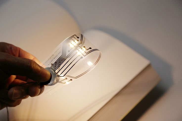 'bookmark light' is a multifunctional bookmark printed on a special film using the ink which transmits electricity.  It can use as a bookmark, also can be used as illumination to use a lithium coin battery. A circuit is printed by the ink in which the silver of a nano sized particle is included on …