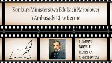Grafika dotycząca konkursu związanego z Herykiem Sienkiewiczem