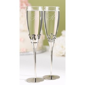 The Thank You Company - King and Queen Flutes (Set of 2), $48.00 (http://www.thankyou.on.ca/king-and-queen-flutes-set-of-2/)