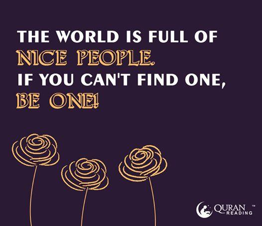 World is full of nice people