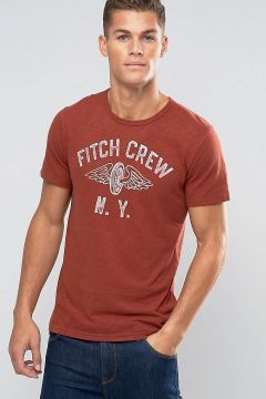 Abercrombie & Fitch Slim T-Shirt Vintage Wing Print In Red - Red https://modasto.com/abercrombie-fitch/erkek-ust-giyim-t-shirt/br21370ct88