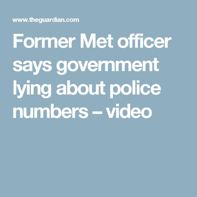 Former Met officer says government lying about police numbers – video