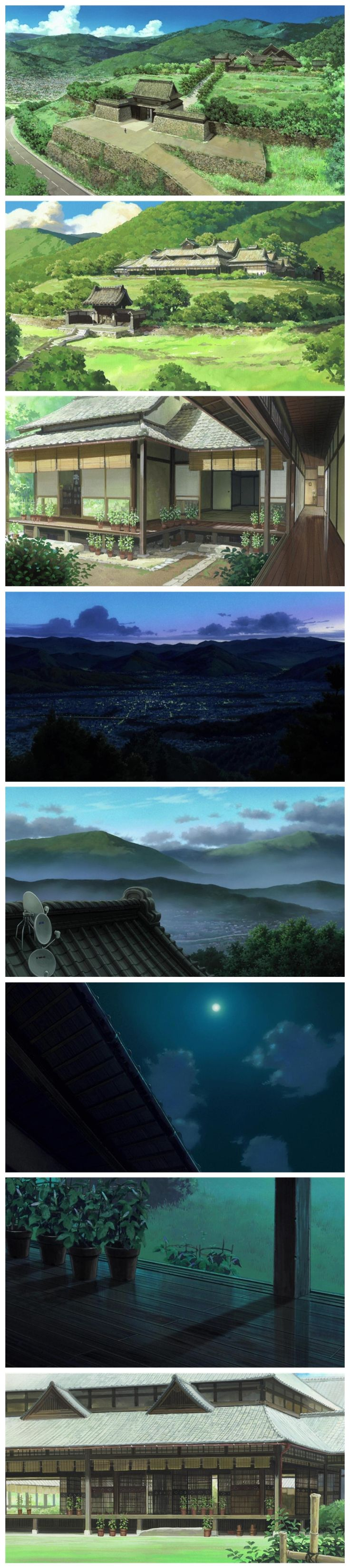 AnimeBackgrounds: Summer Wars (2009) Directed by Mamoru Hosoda and animated by Madhouse.