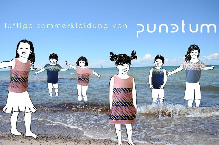 Super - Sommer - Badewetter! Wir bei punctum schwitzen, aber unsere Models sicher nicht! Die tragen unsere luftigen Klamotten und haben Spaß an der See...