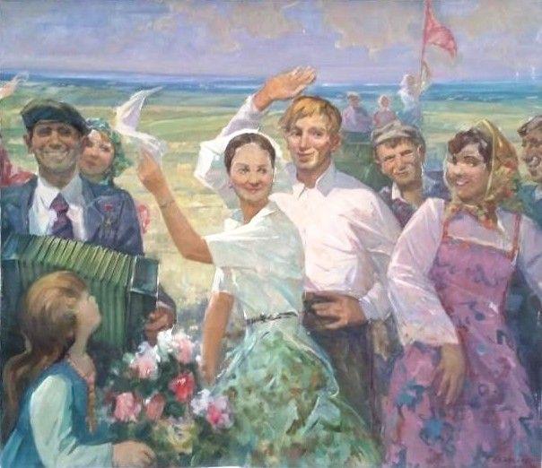Праздник урожая Художник: Санакоев Борис Иосифович  Год: 1983