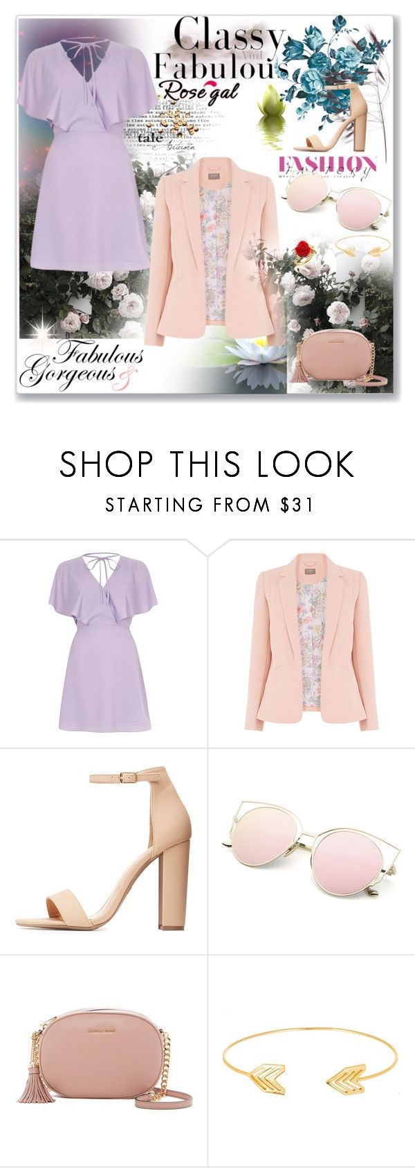 """""""Summer Gardens"""" by sarahbear231 on Polyvore featuring River Island, Charlotte Russe, MICHAEL Michael Kors, Lord & Taylor, Disney Couture and Bastien"""