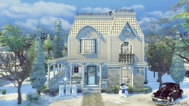 The Winter's Tale Shabby Chic Cottage at Frau Engel via Sims 4 Updates