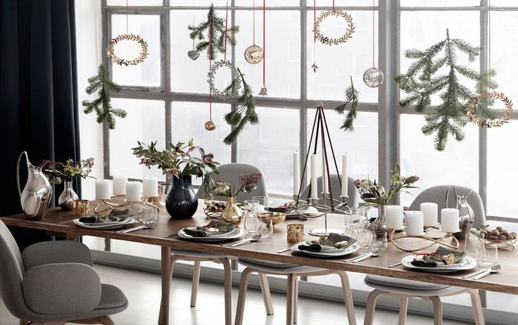 Georg Jensen, Table settings  Table in Scandinavian style ushers in Christmas @designbestcom