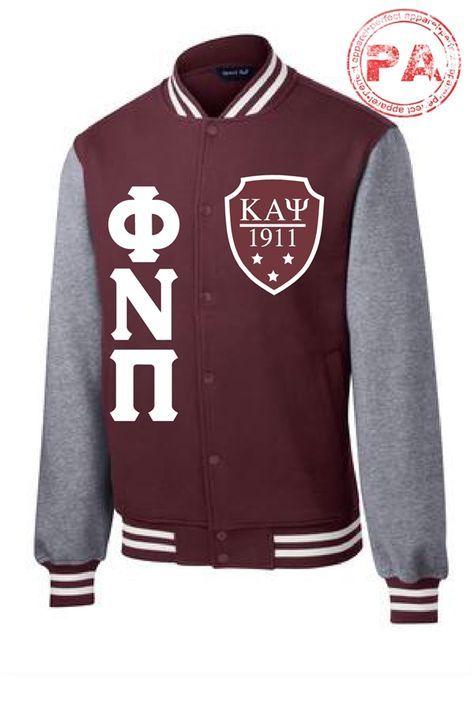 Phi Nu Pi Fleece Letterman Jacket - Kappa Alpha Psi Fraternity Inc