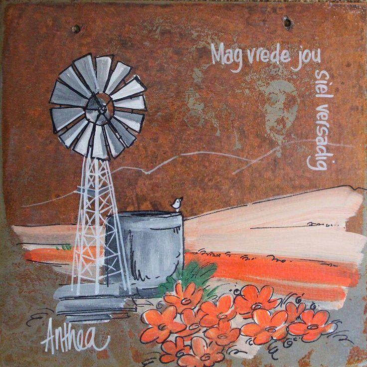 Mag vrede jou siel versadig - deur Anthea Art __[AntheaKlopper/FB] #Afrikaans #BesteWense #windpomp