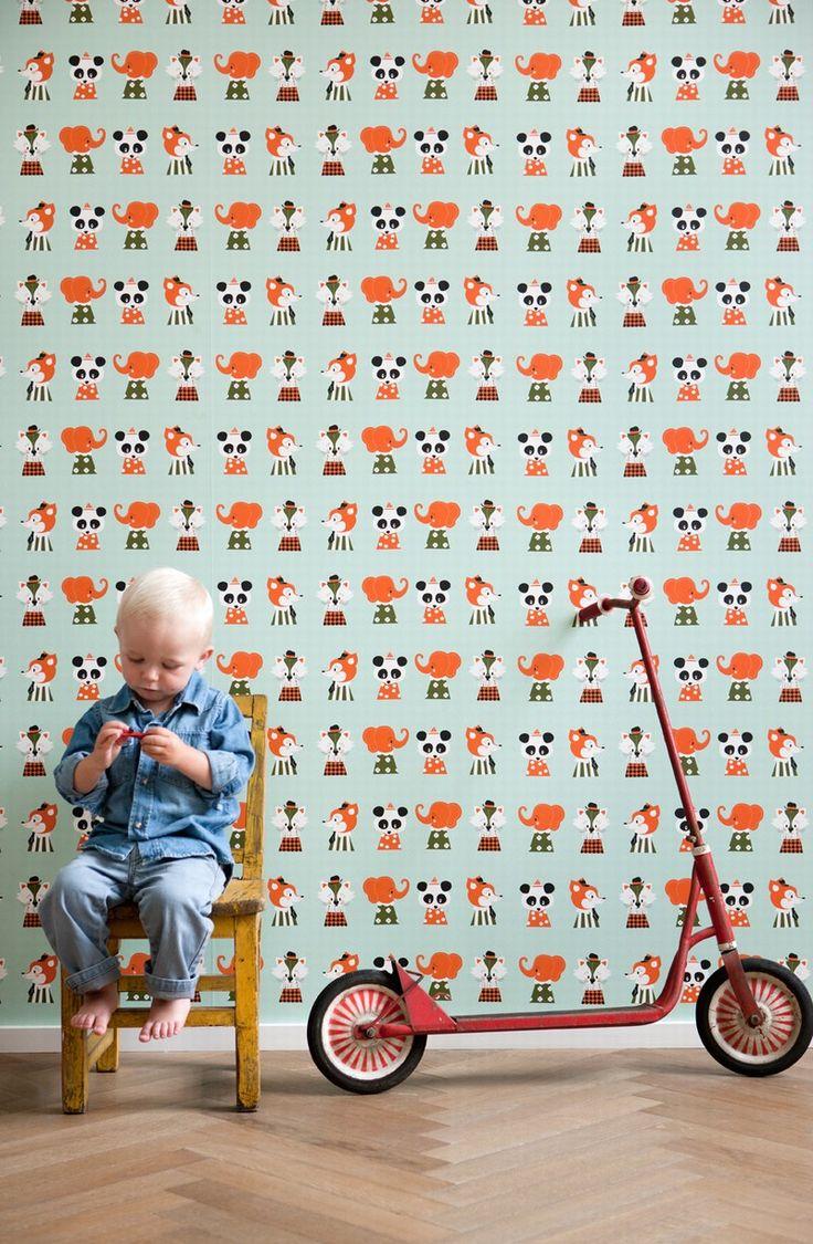 Ferm Living Wallpaper Marionette Wallpaper Ferm Living HOME Ornithology