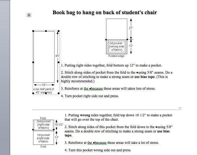 seat sack pattern