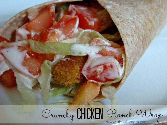 Crunchy Chicken Ranch Wraps with Tyson Chicken Fries