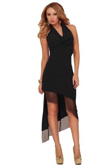 Womens Halter Length Deep V Neckline Draped Waist Dress
