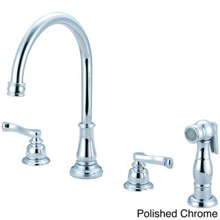 Country Kitchen Faucets Two Handle Porcelain
