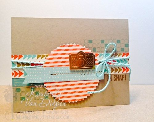 Stampin' Up! Peachy Keen, Hip Nots; One Little Word by Kimberly Van Diepen