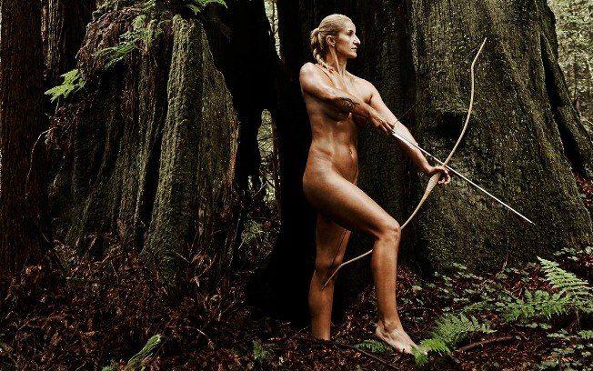 Khatuna Lorig, atleta de tiro com arco. Foto: ESPN BODY ISSUE / DIVULGAÇÃO