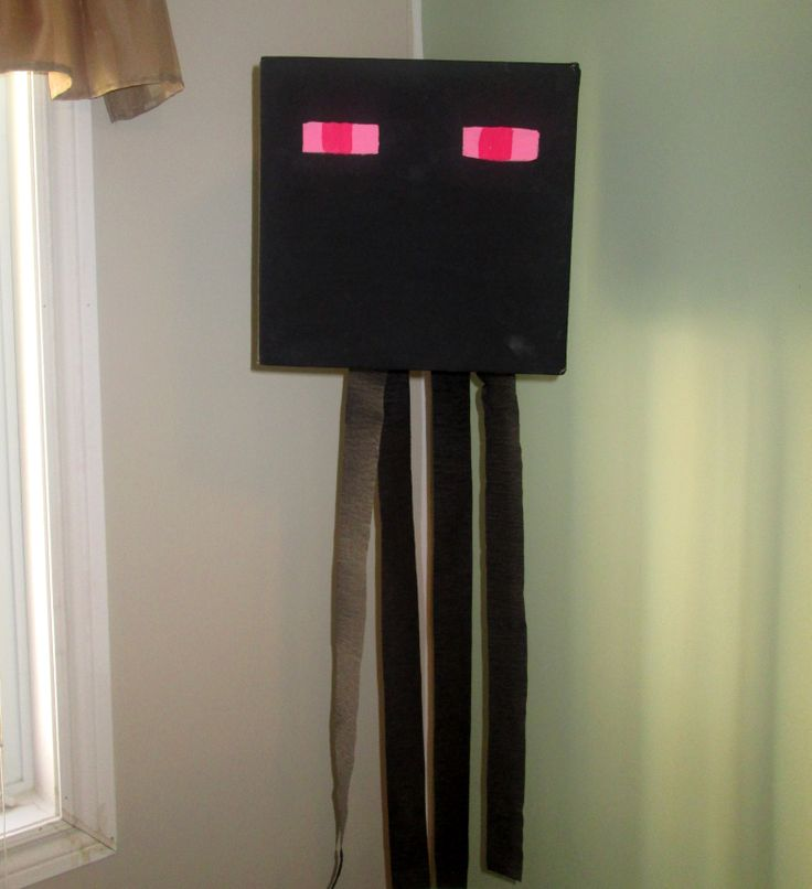 Enderman minecraft party decoration