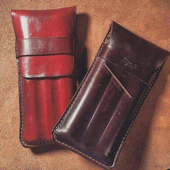 Molded Leather Cigar Case by lavishexpressions on Etsy
