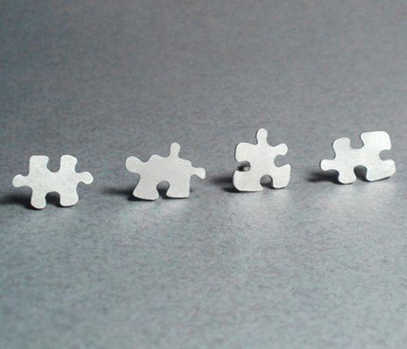 Puzzle Stud Earrings