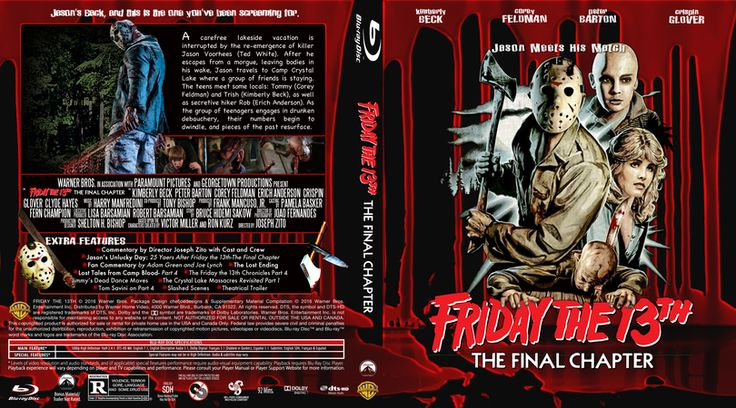 Friday The 13th The Final Chapter Blu-ray Custom Cover