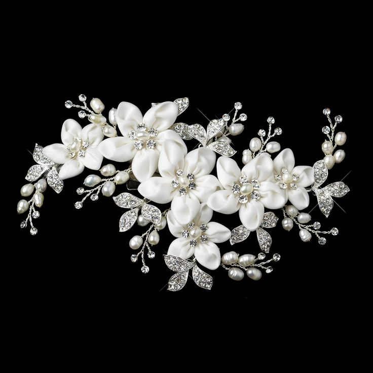 Freshwater Pearl Flower Wedding Hair Clip c9636 - so pretty for Spring! affordableelegancebridal.com