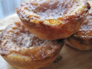Canadian Butter Tarts--pecan pie filling without the pecans. Mmmmmm.  I do not add raisins. I only made the filling and not this pie crust.