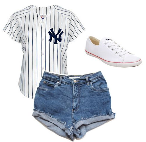 Baseball Game inspired outfit   Jersey  Shorts  Shoes