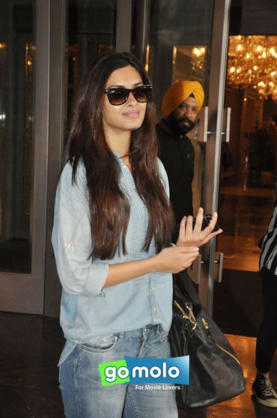 Diana Penty snapped at Hotel Palladium in Mumbai