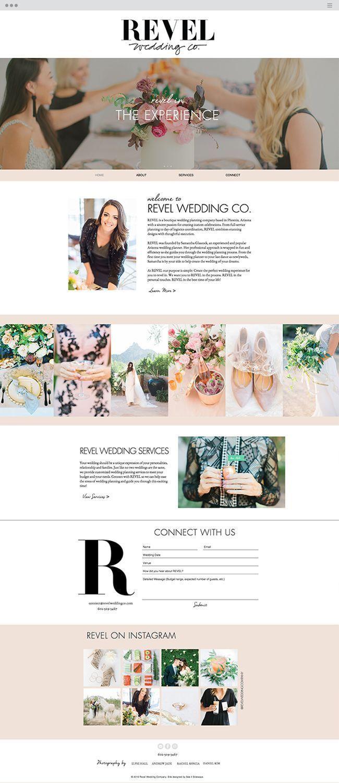 Revel Wedding Co Wedding Planning Portfolio Design And Website Layout Feminine We Wedding Planning Websites Wedding Planning Printables Wedding Planning