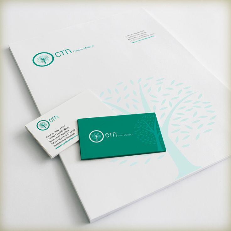 Desarrollo de marca - CNT Centro Médico, distinguido con el Sello de Buen Diseño argentino 2014.
