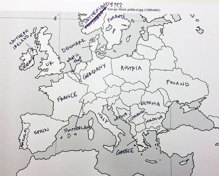 What happens when you Americans to place European countries on a map.