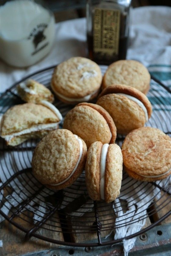 Maple Snickerdoodle Sandwich Cookies with Bourbon Maple Filling - Ohhh ...