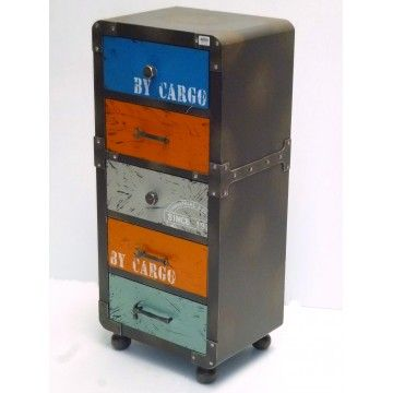 Cabinet Cargo Industrial Style 5 Drawer