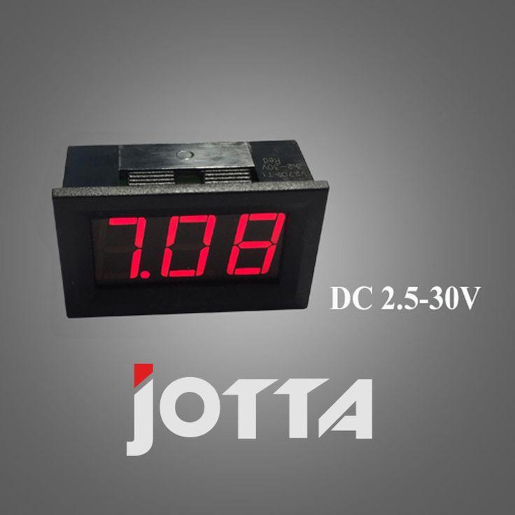 2-wire buggies 6v 12v motorcycle battery special 2.5-30v digital digital voltmeter RED