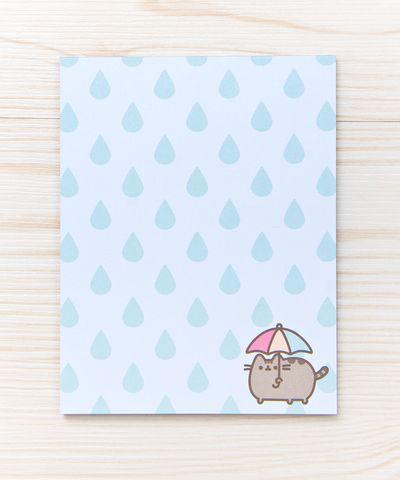 Rainy Day Pusheen notepad