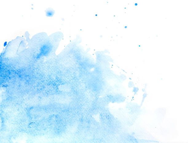 Blue Abstract Watercolor Of Splashing Water Vector Art