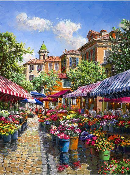 """""""Paris Flower Market"""" by Sam Park"""