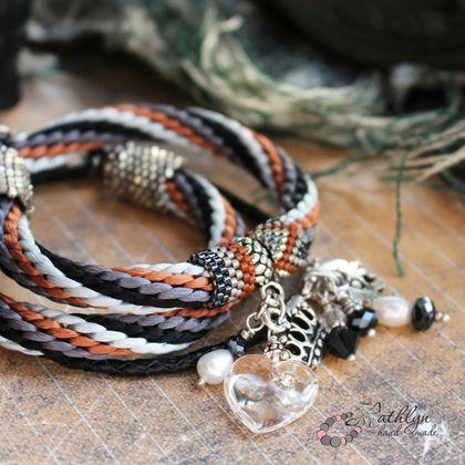 """Браслеты ручной работы. Ярмарка Мастеров - ручная работа Комплект браслетов """"Индийская принцесса"""". Handmade."""