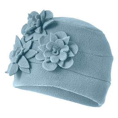 fleece flower hat