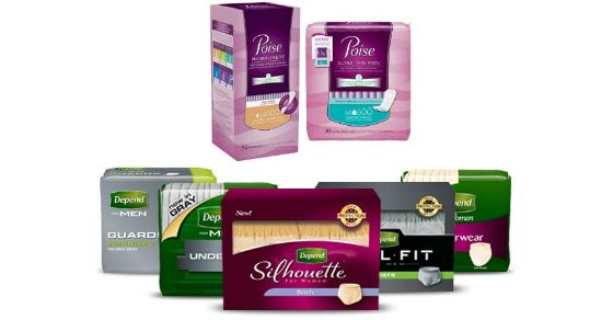 New Coupons for Depend and Poise Products – $14 in Savings!