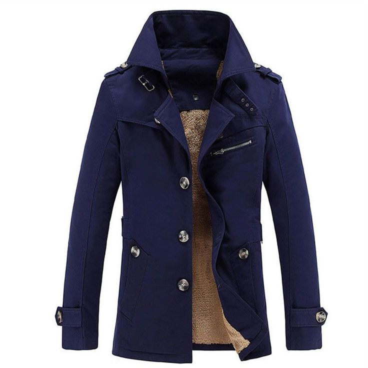 2015 New Arrival Fashion Men Winter Style Cotton Trench Thicker Keep Warm Jacket Coat Outdoors Outwear Y00230
