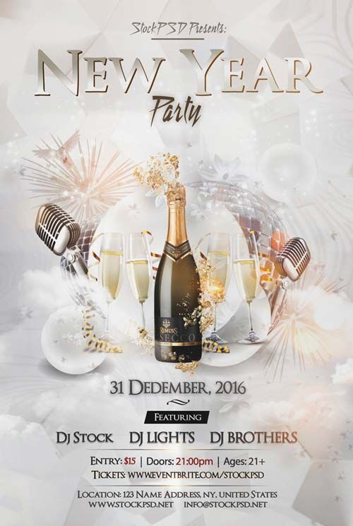 New Years 2017 Party Free Flyer Template - http://freepsdflyer.com/new-years-2017-party-free-flyer-template/ Enjoy downloading the New Years 2017 Party Free Flyer Template created by Stockpsd!  #Club, #Desgin, #Dj, #Electro, #Elegant, #Event, #Festival, #NewYear, #Nightclub, #Nye, #Party